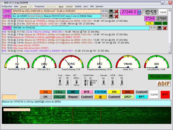 CB RADIO ROS MODE PC Screen